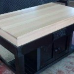 Optional Tassie oak top...this is half table half cupboards