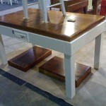 preparation table as a dining table $1950 incl GST care kit, towel rail and usually delivery