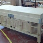 Preparation table with half dinig table half cupboards custom made POA